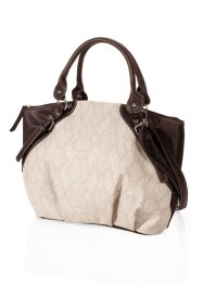 Sac à  main, bpc bonprix collection, marron/crème