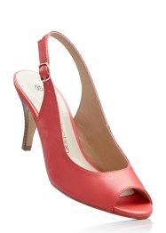 Escarpins peep-toe, bpc selection, saumon