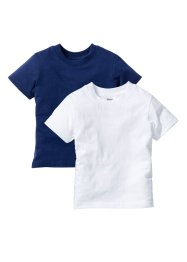 T-shirts, bpc bonprix collection, bleu nuit + blanc