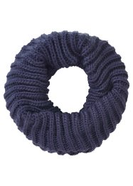 Écharpe-tube en maille, bpc bonprix collection, bleu