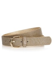 Ceinture strass, bpc bonprix collection, marron/doré