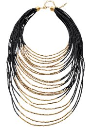 Collier, bpc bonprix collection, noir/doré