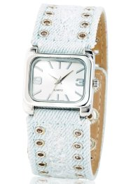 Montre bracelet jean, bpc bonprix collection, bleached jean