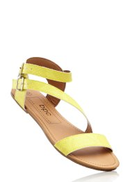 Sandales, bpc bonprix collection, jaune clair