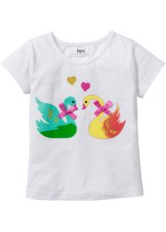 T-shirt avec applications, bpc bonprix collection, blanc imprimé