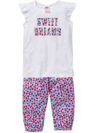 Pyjama (Ens. 2 pces.), bpc bonprix collection, blanc/imprimé multicolore