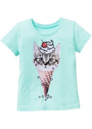 T-shirt, bpc bonprix collection, menthe pastel imprimé