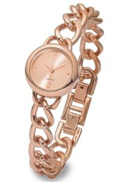 Montre bracelet fin gourmette, bpc bonprix collection, doré rose