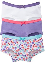 Lot de 3 culottes, bpc bonprix collection, multicolore fleurs
