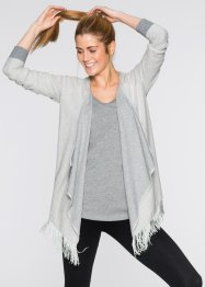 Gilet sweat effet tricot, bpc bonprix collection