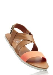 Sandales, bpc bonprix collection, camel/nectarine
