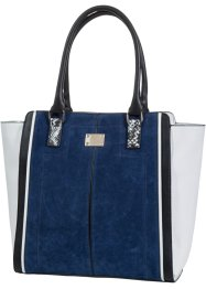 Sac à  main, bpc bonprix collection, bleu/noir/beige