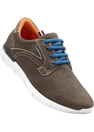 Chaussures à lacets en cuir, bpc bonprix collection, marron