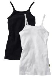 Lot de 2 tops, bpc bonprix collection, noir/blanc