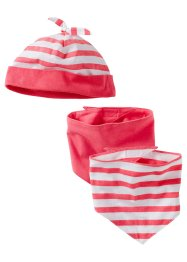 Le bonnet + les foulards (Ens. 3 pces.) (bpc bonprix collection)