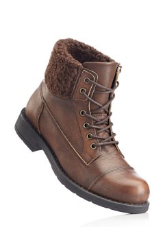 Bottines en cuir, bpc bonprix collection, marron foncé