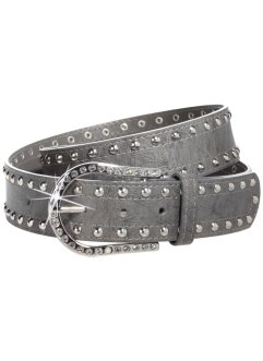Ceinture clous et strass, bpc bonprix collection, gris