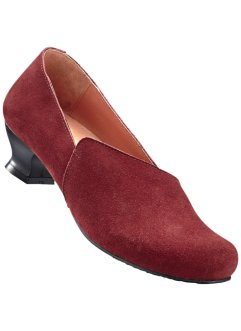Slippers confortables en cuir, bpc selection, bordeaux