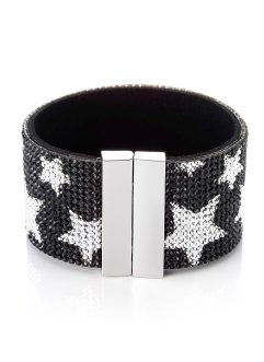 Bracelet scintillant Stars, bpc bonprix collection, noir