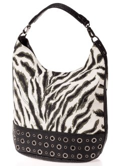 Sac shopper Animal, bpc bonprix collection, gris/rouge/multicolore