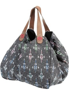 Sac shopper à motif, bpc bonprix collection, gris