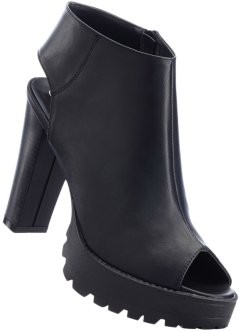 Low-boots peep-toe, RAINBOW, noir