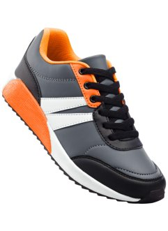 Tennis, bpc bonprix collection, noir/gris/orange