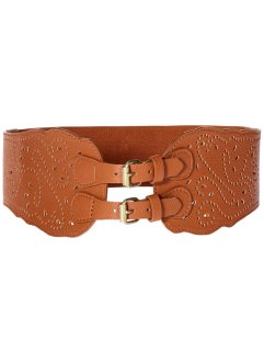Ceinture extensible avec perforations, bpc bonprix collection, marron