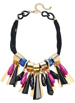 Collier Colour Flash, bpc bonprix collection, noir/bleu azur/fuchsia