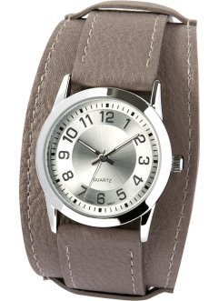 Montre à bracelet large, bpc bonprix collection, gris