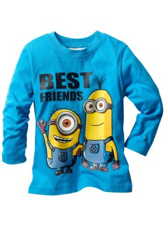 T-shirt manches longues MINIONS, Despicable Me 2, turquoise moyen MINIONS