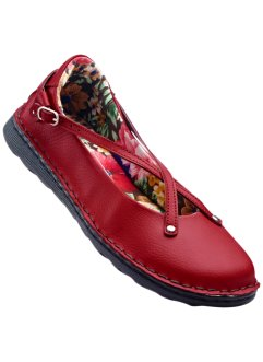 Ballerines en cuir, bpc bonprix collection, rouge