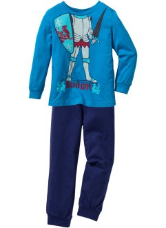 Pyjama WOW (Ens. 2 pces.), bpc bonprix collection, bleu capri/bleu nuit