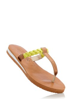 Mules entredoigt, bpc bonprix collection, camel/citron clair