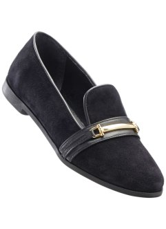 Slippers en cuir, bpc selection, noir