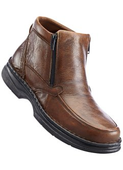 Bottines en cuir, bpc selection, marron