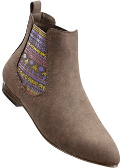 Bottines Chelsea en 2 largeurs, bpc bonprix collection, marron moyen