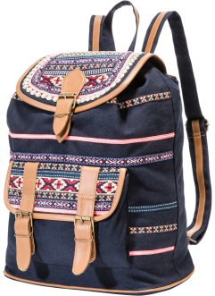 Sac à dos Ethno, bpc bonprix collection, noir multicolore