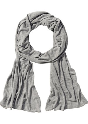 Foulard en jersey, bpc bonprix collection, gris clair chiné