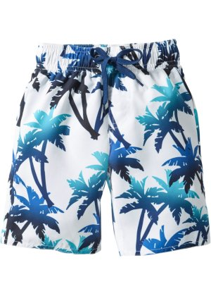 Short de bain garçon, bpc bonprix collection, bleu/blanc
