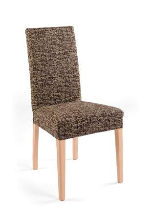 housse de chaise malta marron cr me maison. Black Bedroom Furniture Sets. Home Design Ideas