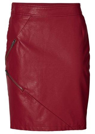 jupe simili cuir rouge fonc bodyflirt commande online. Black Bedroom Furniture Sets. Home Design Ideas