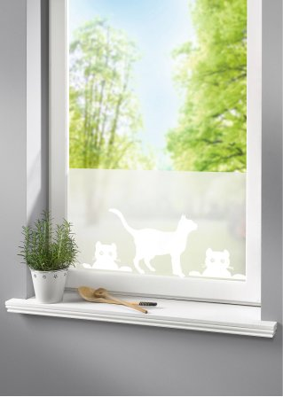 le sticker brise vue pour fen tres chats blanc bpc. Black Bedroom Furniture Sets. Home Design Ideas