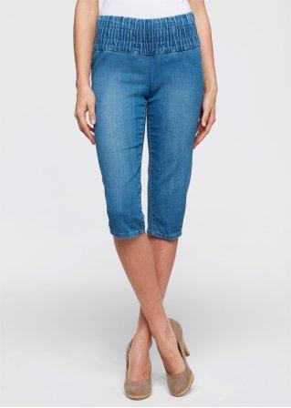 le corsaire en jean ventre plat t n blanc femme john baner jeanswear. Black Bedroom Furniture Sets. Home Design Ideas