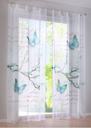 le voilage leva 1 pce pattes bleu ciel bpc living commande online. Black Bedroom Furniture Sets. Home Design Ideas