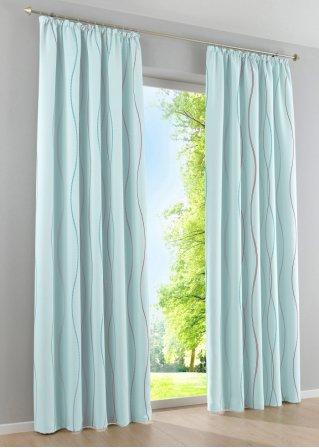 panneau occultant lynn 1 pce galon fronceur bleu ciel maison. Black Bedroom Furniture Sets. Home Design Ideas