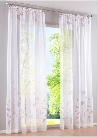 voilage felia 1 pce galon fronceur prune bpc living. Black Bedroom Furniture Sets. Home Design Ideas