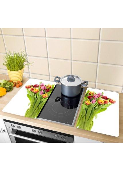 Le lot de 2 protège-table de cuisson Tulipes