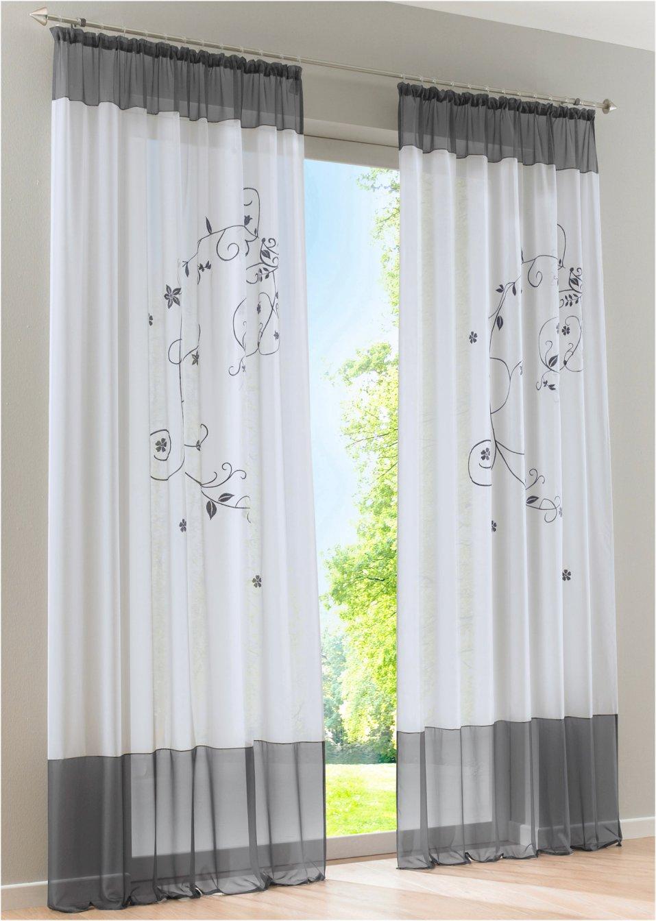 voilage sandy galon fronceur gris bpc living commande online. Black Bedroom Furniture Sets. Home Design Ideas