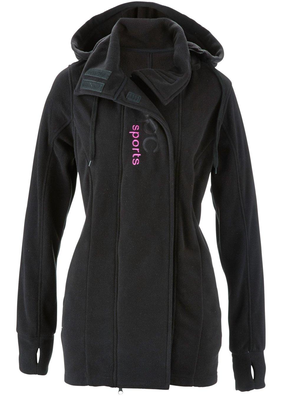 Veste polaire longue noir bpc bonprix collection - Bonprix suivi de commande ...